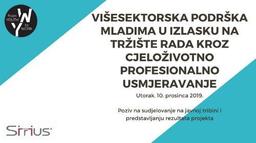 """From Youth to Work """"Višesektorska podrška mladima u izlasku na tržište rada kroz cjeloživotno profesionalno usmjeravanje"""""""