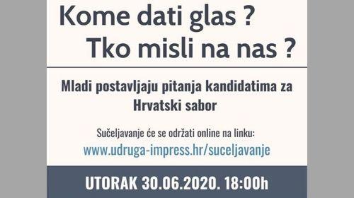 Online sučeljavanje kandidata za Hrvatski sabor na temu mladih