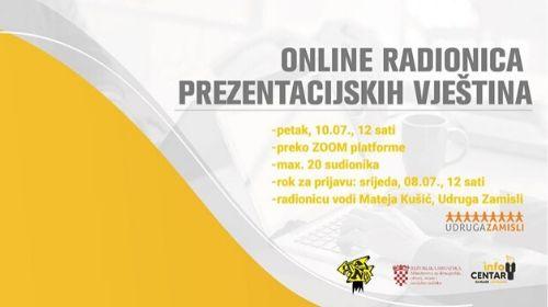 Online radionica prezentacijskih vještina